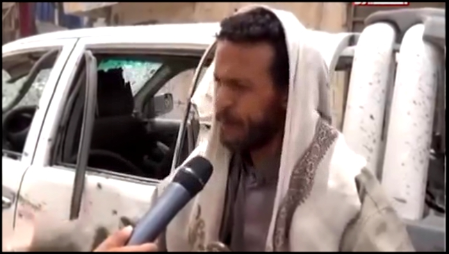 Видеоклип 9 May'15, Saudi airstrikes damage Imam al-Hadi mosque and destroy market in Saada City Yemen