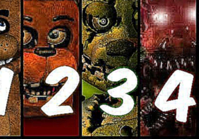 Видеоклип FIVE NIGHT AT FREDDY'S FULL TRAILERS fnaf 1,2,3,4 | todos los trailers de five night at freddy's
