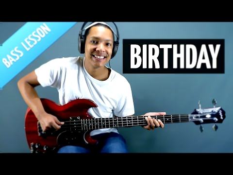 Видеоклип Birthday (Bass Lesson - The Beatles)