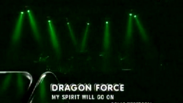 Видеоклип DragonForce - My Spirit Will Go On   Live