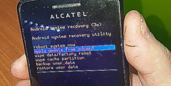 Видеоклип Hard reset Alcatel 4007