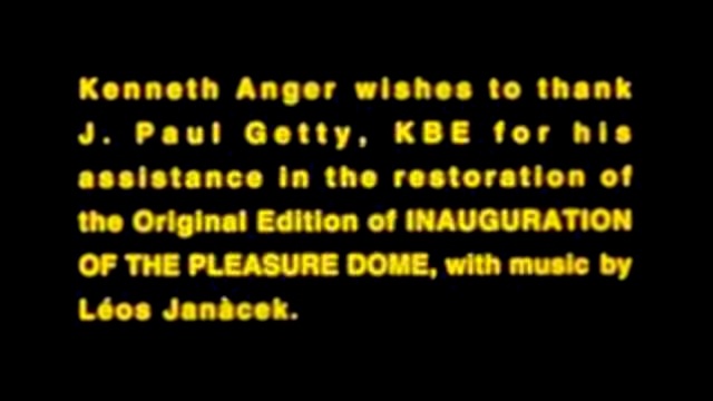 Видеоклип Inauguration of the Pleasure Dome (Kenneth Anger, 1954) Part