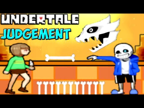 Видеоклип Undertale - Judgement | Sans и Chara в 2D битве