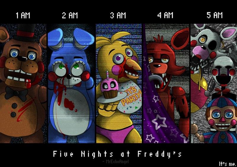 картинки пять ночей с фредди аниме