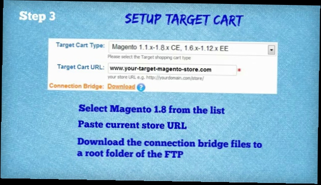 Видеоклип How to Upgrade Magento 1.5 to 1.8 with Cart2Cart
