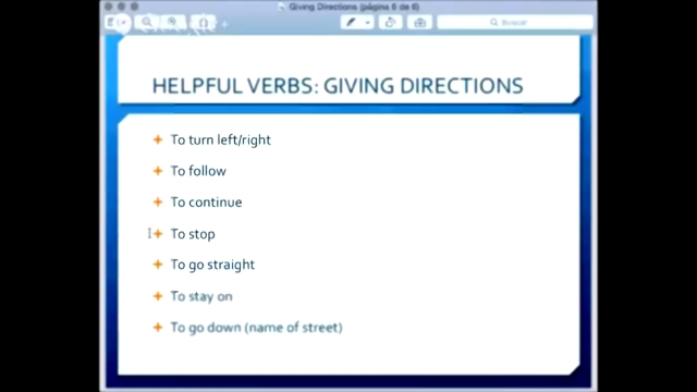 Видеоклип Giving Directions - Useful Verbs