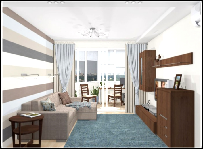 Design of a two-room apartment p-44t - your flat.