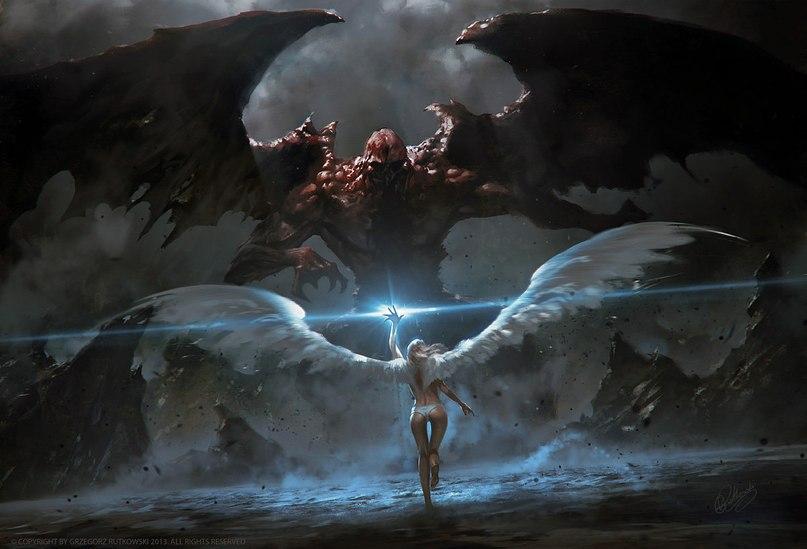 картинки демоны и ангелы