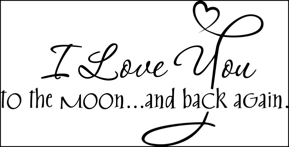 Aliexpress.com : Buy I Love you to the Moon & Back Decor ON Wall Decal Sticker Vinyl Wall Room Decal 1 order from Reliable vinyl tablecloth suppliers on