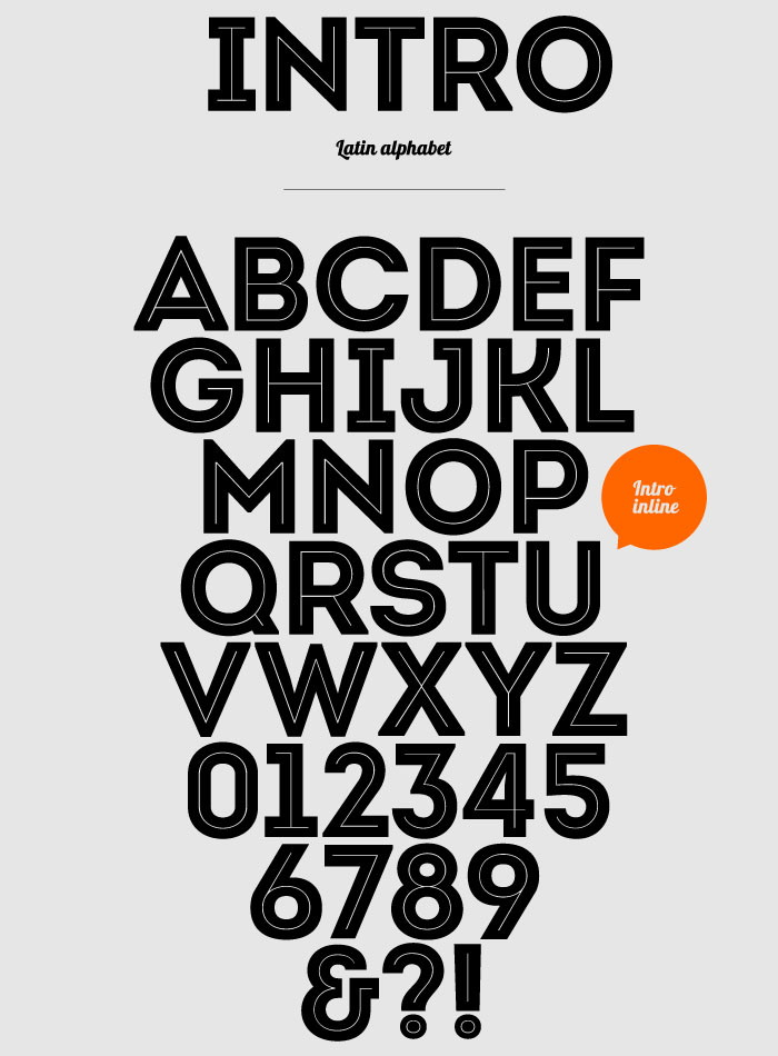 Intro-inline font free fonts download.